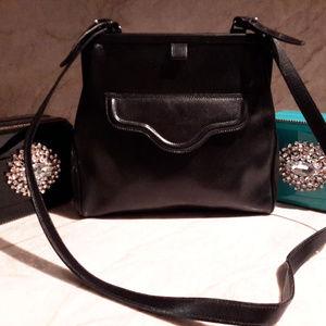 Giorgio Armani Vintage Antique Purse Black Leather